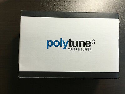 TC Electronic Polytune 3 Polyphonic LED Guitar Tuner Pedal - FACTORY SEALED