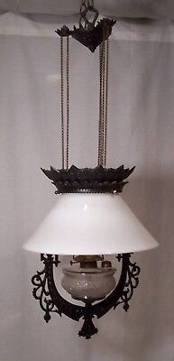 Antique Vintage Oil  B&H Iron Horse Light Fixture 1877 # R-72