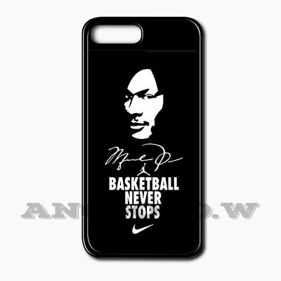watch da63a 24b56 BASKETBALL NEVER STOPS Cover Case For Apple iPhone SE | 6 | 7 | 8 ...