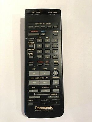 Panasonic VSQS0823 Learning VCR Remote Control Vintage Tested