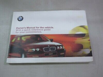 1998 BMW 3 Series Car Owners Instruction Book Glove Box Manual