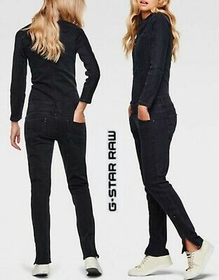 d68393428cde NWT G-STAR Womens Blue Black Denim Long Sleeve Overall Jumpsuit Dungaree L   269
