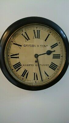 Antique Wall Clock Kingston On Thames Empire Non Fusee Pendulum Key Smith School
