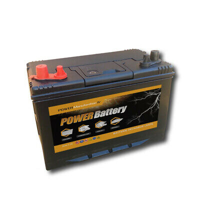 Batterie décharge lente Power Battery 12v 110ah double borne
