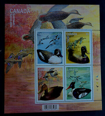 "Canada #2163 Mnh** S/S ""Duck Decoys"" Hand Carved Canadiana Waterfowl"