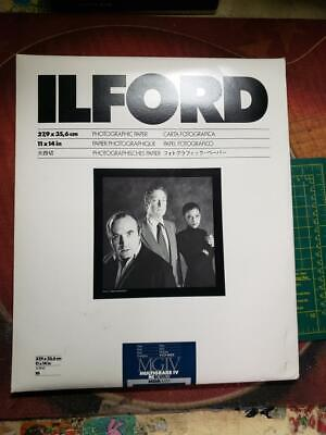 "New Ilford B&W Photographic Paper 11""x 14"" Multigrade IV RC Deluxe Pearl 10pcs."