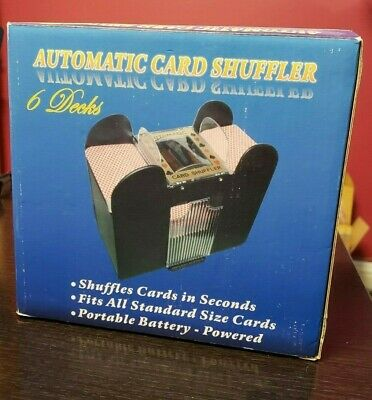 Casino 6 Deck Automatic Playing Card Shuffler Holdem Poker (Cards not included)