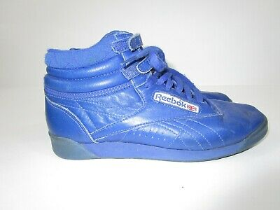 53151412 1980'S VINTAGE REEBOK Classics High Top Leather Shoes Sneakers BLUE ...