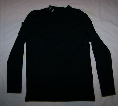e4fbd0032623 Boys Under Armour Cold Gear Long Sleeve Mock Compression Shirt Youth Large  YLG