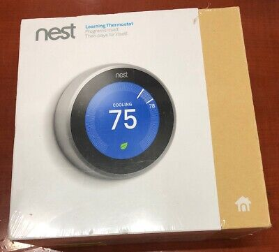 *BRAND NEW SEALED* Nest 3rd Generation Learning Thermostat - Stainless T3007ES