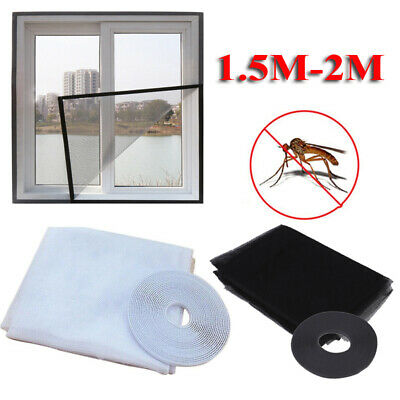 1.5M-2M Large Window Screen Insect Net Mesh Guard Protect for Mosquito Fly Bug