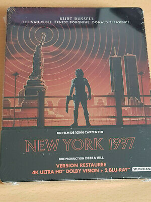 Steelbook New York 1997 Blu Ray 4K + Blu Ray Neuf Sous Blister