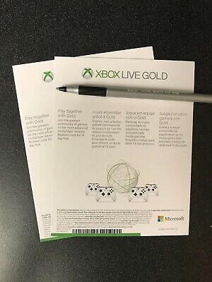 Microsoft Xbox Live Gold 1 Month Trial (2 X 14 / 28 Days) UNUSED
