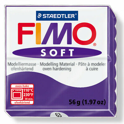 FIMO Soft Polymer Modelling Clay nr 63 - Plum - Two 56g blocks