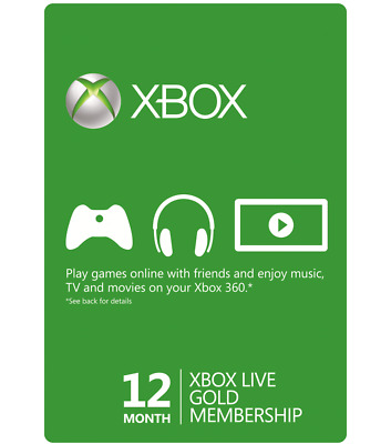 Microsoft Xbox Live Gold 12 Month Trial (24 X 14 / 336 Days) UNUSED