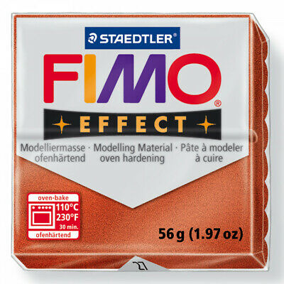 FIMO Soft Polymer Modelling Clay no 27- Metallic Copper - Two 56g blocks