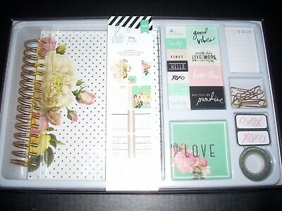 American Crafts Heidi Swapp Memory Monthly Planner Kit Gold Foil 1044 Piece