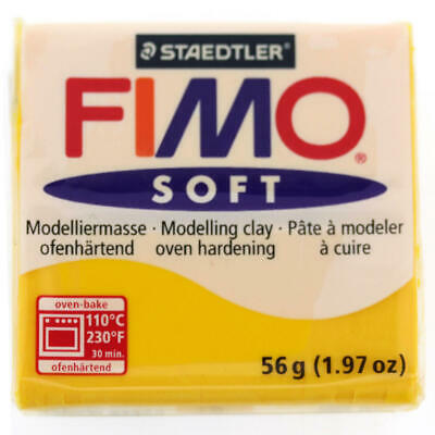 FIMO Soft Polymer Modelling Clay no 16- Sunflower - Two 56g blocks