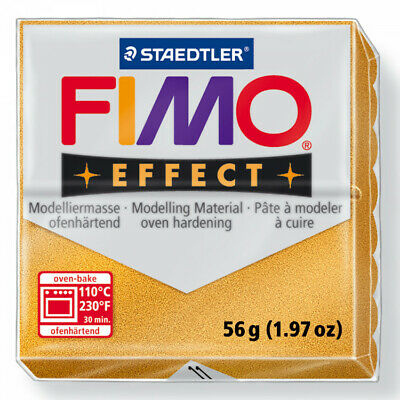 FIMO Soft Polymer Modelling Clay no 11 - Metallic Gold - Two 56g blocks