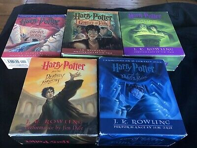 ~HARRY POTTER~ Audio Book Lot (5) J.K Rowling Unabridged Set