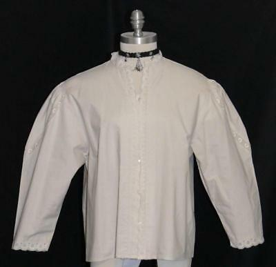 """LACE Women BLOUSE SHIRT Top LACE SLEEVES German BUTTON UP Front Dress/B46""""/18 XL"""