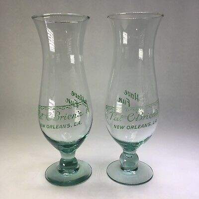 New Orleans Pat O'Brien's Hurricane Glasses Set of 2 Have Fun