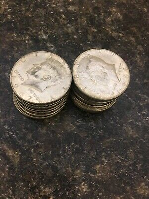 $10.00 Face Value 40% Silver Kennedy Half Dollars. Free Shipping
