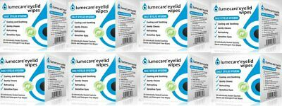 8 PACKS x Lumecare Cleansing Eyelid Wipes Cooling & Soothing 20 Wipes