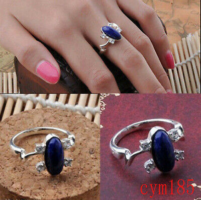 Luxury Hot Daylight Sun Gem Vampire Diaries Elena's Protection Ring Lapis Lazuli