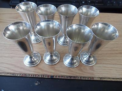 Set of 8 Antique Randahl 925 Solid Sterling Silver Cordial Mini Glasses 24g each