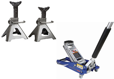 1 5 Ton Rapid Pump Jack And 3 Ton Jack Stands Set Steel Hydraulic