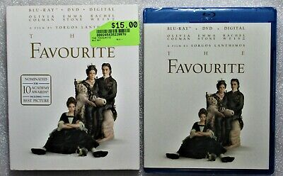 NEW Sealed The Favourite WS 2018 3-Way Combo Blu-Ray DVD + Digital Anywhere Code