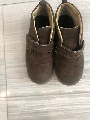 Jumping Beans Toddler Baby Boys Brown Suede Ankle Boots Size 11 M