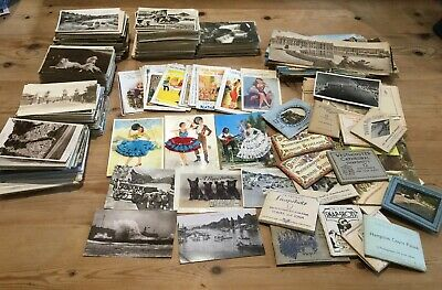 Postcard Job Lot 1000+ Cards 1900 To 1970s British Foreign Views Humorous Etc