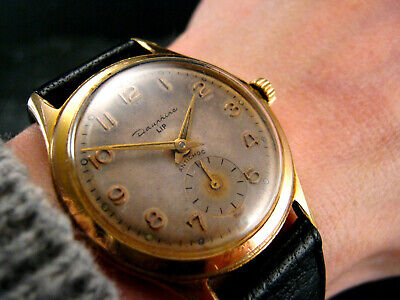 1950s DAUPHINE LIP Military Style FRENCH Vintage Retro P112 33mm Mens Watch