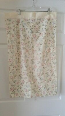 Vintage Cannon Queen No Iron Percale Pillowcase Cream Color Rose Floral Pattern