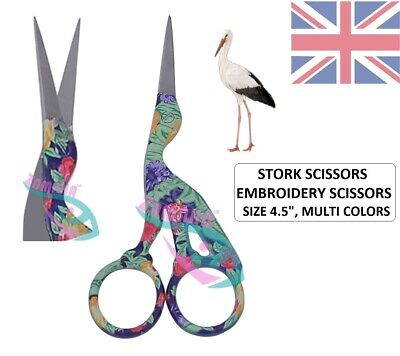 Stork Scissor For Embroidery, Craft & Sewing, Cross Stitch Scissors Zamaha Uk-Ce