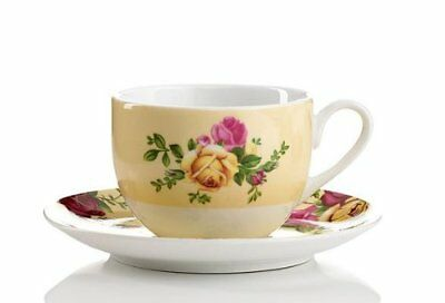 New In Box Royal Albert Country Rose  Buttermilk Duo ~Tea Cup & Saucer