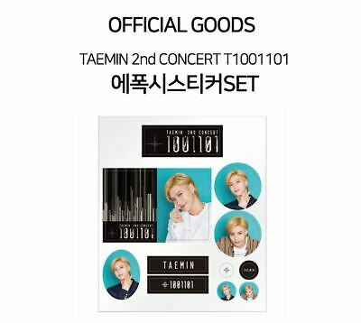 TAEMIN SHINEE 2nd CONCERT T1001101 OFFICIAL GOODS EPOXY STICKER SET + PHOTO CARD