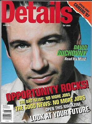 Details For Men Magazine June 1997 (Vf/nm) David Duchovny Of The X-Files Cover