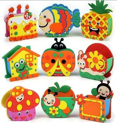 Handmade Eva Pen Holders Crafts Kids DIY for Pens Educational toy for Childre HY