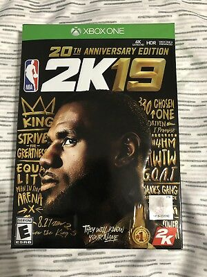 NBA 2k19 20th Anniversary Edition (Microsoft Xbox One, 2019) BRAND NEW