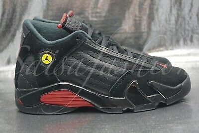 reputable site c8ee5 9c958 AIR JORDAN 14 Retro Last Shot Big Kids 487524-003 Black Red Shoes Youth  Size 3.5