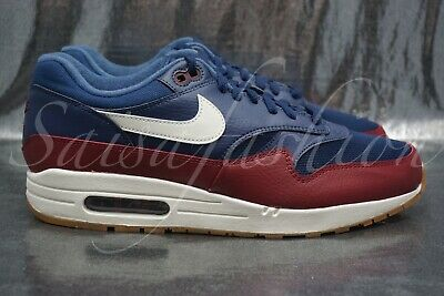timeless design a4298 18c4e Nike Air Max 1 Men s Shoes Navy Team Red 2018 Sneakers AH8145-400 Size 10.5