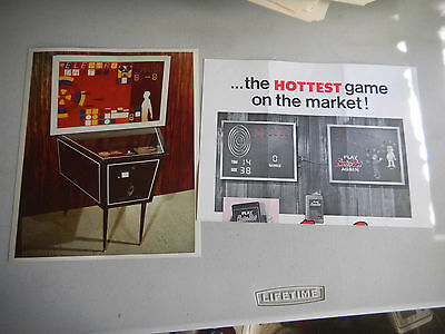 electronic sensing products ELECTRO DART FOLDED WITH PIC  ARCADE GAME  FLYER
