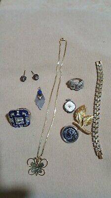 Job Lot Of Vintage  Silver , Costume Jewellery & Others.