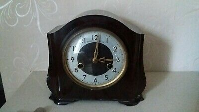Vintage Smiths Enfield Brown Bakelite Mantle Clock.