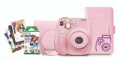 Pink Fujifilm Instax Mini 7S Instant Camera  Album Stickers Film bundle.