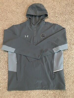 b1a5a831fef970 Notre Dame Irish Football Under Armour 1 4 Zip Hoodie Pullover Jacket Large  ND