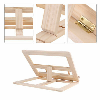 25*31CM Adjustable Wooden Book Stand Cook Book Display Folding Holder Fine Rack